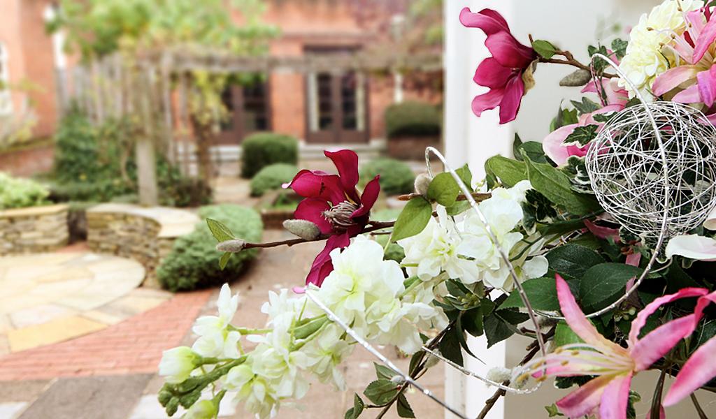 Flowers outside the Register Office