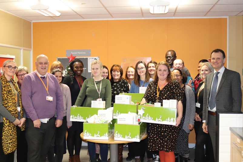 Waitrose donation of Christmas hampers to Children's Services