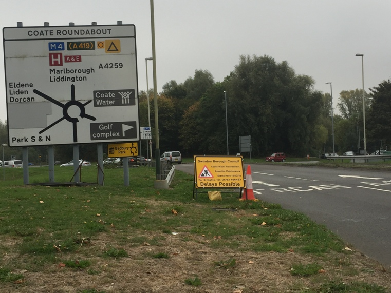 Coate Roundabout resurfacing