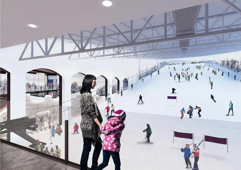 Indoor ski slope North Star artist's impression