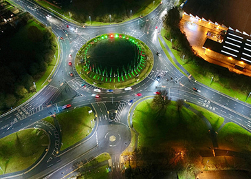 Birds eye view of redeveloped Mannington roundabout