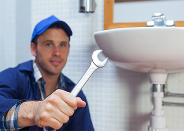 Priority 2a image of plumber with spanner