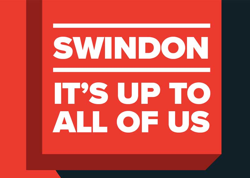 Swindon - It's Up To All Of Us campaign graphic