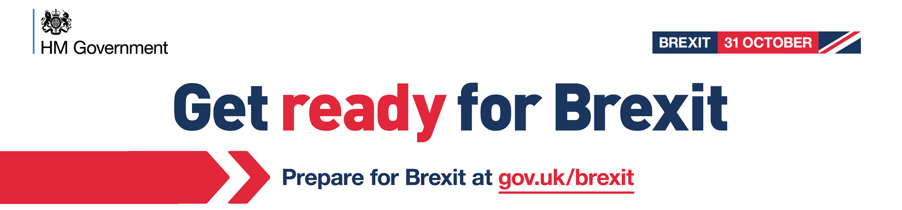 Banner promoting guidance on getting prepared for Brexit