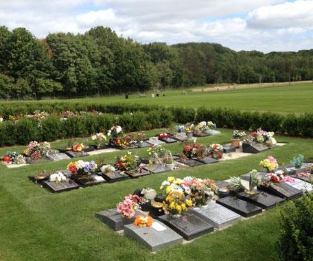 Cremated remains section at Kingsdown crematorium