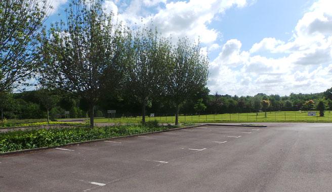 Car park at Kingsdown crematorium