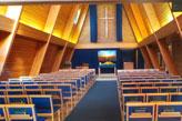 Inside the crematorium chapel