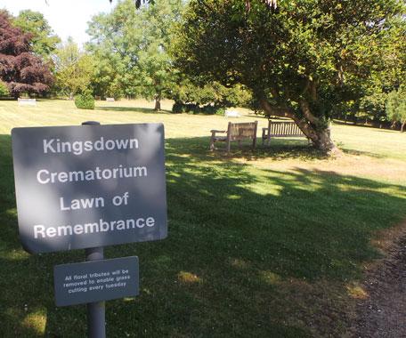 Lawn of Remembrance at Kingsdown crematorium