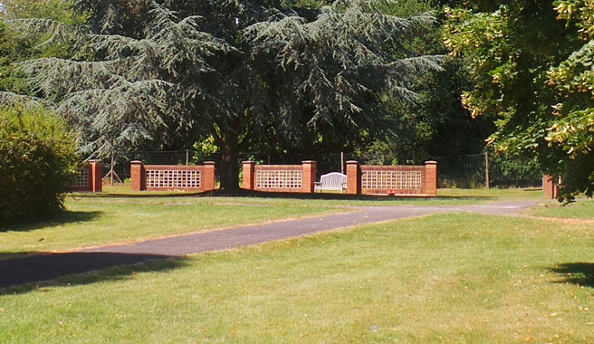 Memorial wall plaques at Kingsdown cemetery