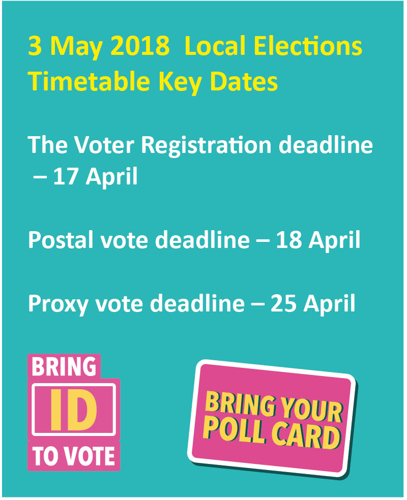 Timetable for local elections May 2018