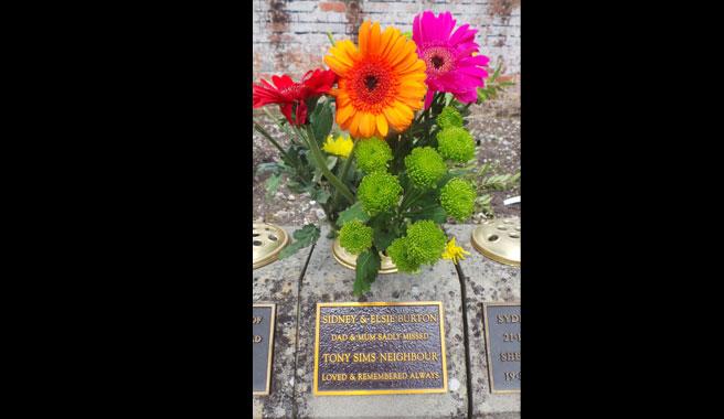 Vase block tablet at Kingsdown cemetery