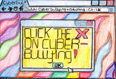 cyber bullying image created by Swindon's children and young people