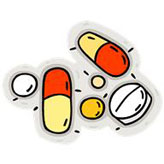 cartoon image of drugs