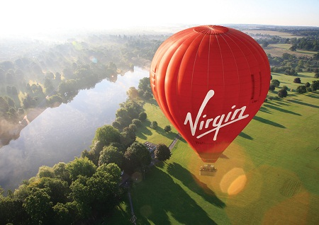 virgin balloon in flight